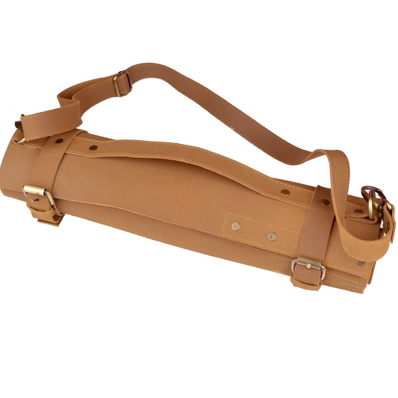 CKP Genuine Leather Knife Roll Bags 7 slots